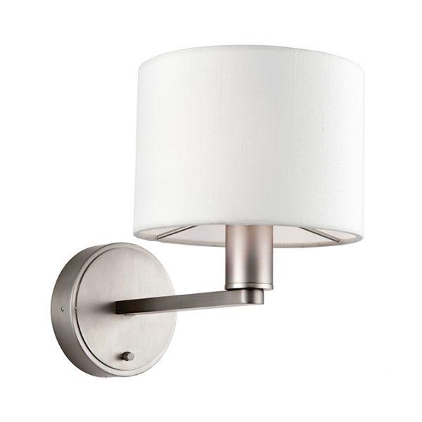 MATT NICKEL AND FAUX SATIN BEDROOM LED WALL LIGHT C60-0001 670x670