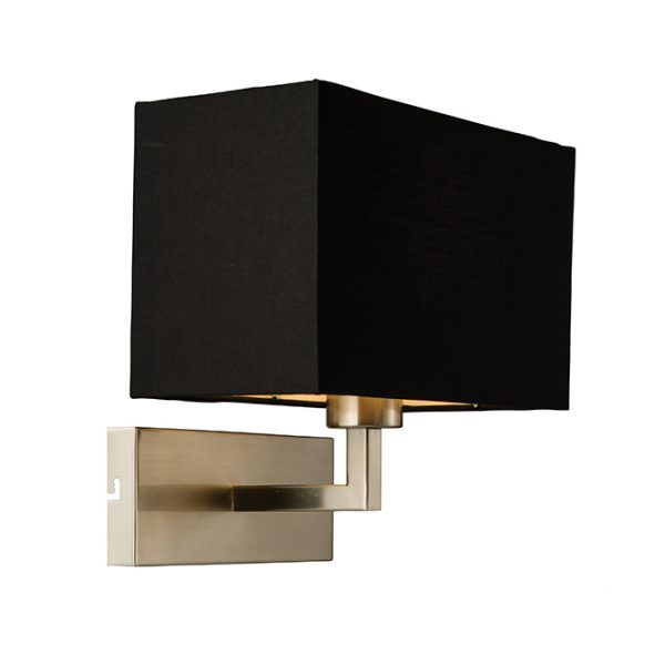 SATIN NICKEL BEDROOM AND RECTANGULAR LED WALL LIGHT C60-0002BK 670x670