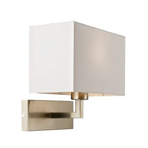SATIN NICKEL BEDROOM AND RECTANGULAR LED WALL LIGHT C60-0002BK 670x670 C60-0002WH 670x670