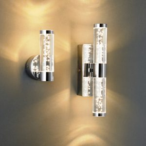 IP44 RATED BUBBLE EFFECT WALL LIGHTS D02-4013 & D02-4014 insitu 670x670