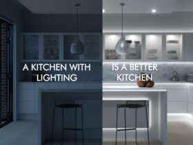A kitchen with lighting is a better kitchen