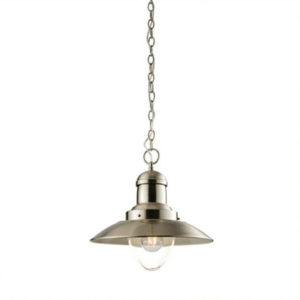 satin nickel and clear glass ceiling pendant T54-0021