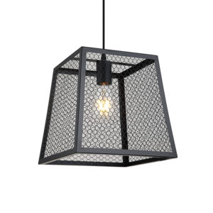 Arlo industrial & black mesh ceiling pendant light T01-0018 670x670 2