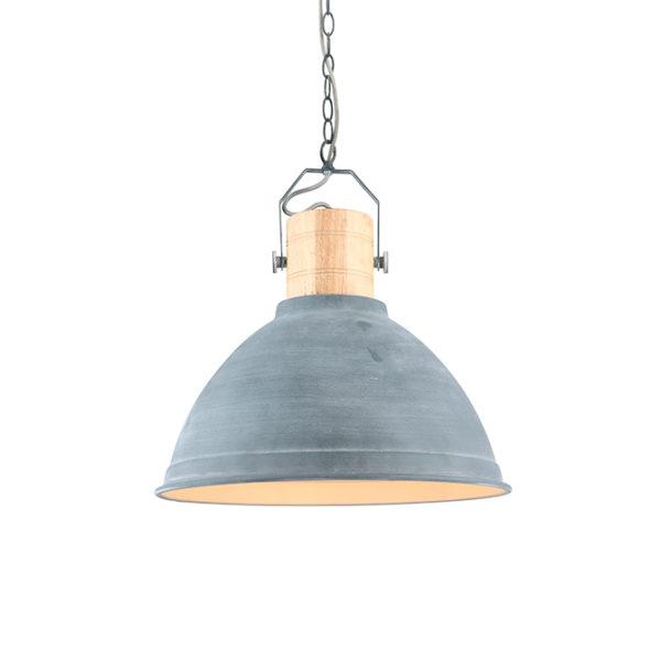 Aura concrete & wooden ceiling pendant light T01-0015 670x670 2