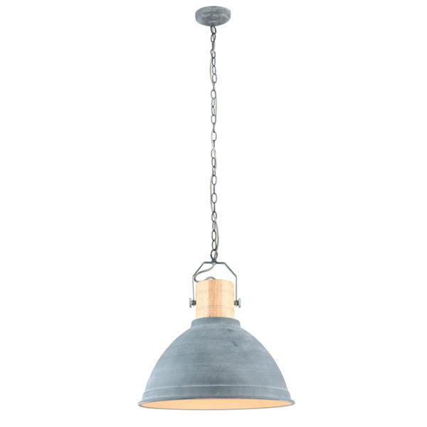 Aura concrete & wooden finish ceiling pendant light T01-0015 670x670