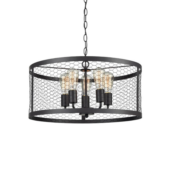 Bach industrial & 5 lamp ceiling pendant light T01-0019 670X670 2