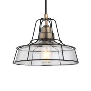 Cadence antique metal & industrial framing ceiling pendant light T01-0016 670X670 2
