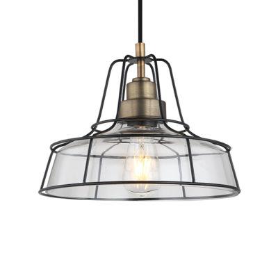 Cadence antique metal & industrial framing ceiling pendant light T01-0016 670X670 2