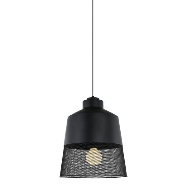 Calabria black mesh ceiling pendant light - T01-0021 670X670