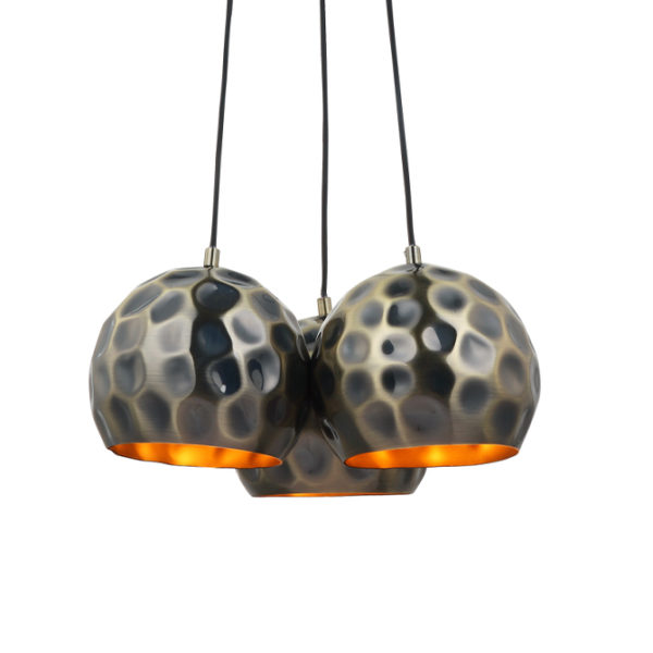 Ezra ceiling pendant light with hammered metallic shades- T01-0022 670X670 2