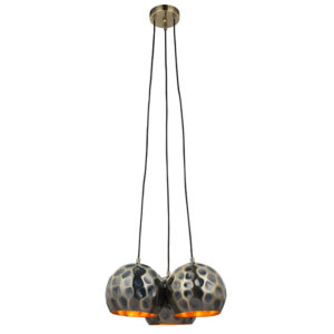 Ezra ceiling pendant light with hammered metallic shades - T01-0022 670X670
