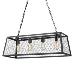 Rosa industrial & 4 lamp ceiling pendant light T01-0020 670X670 2