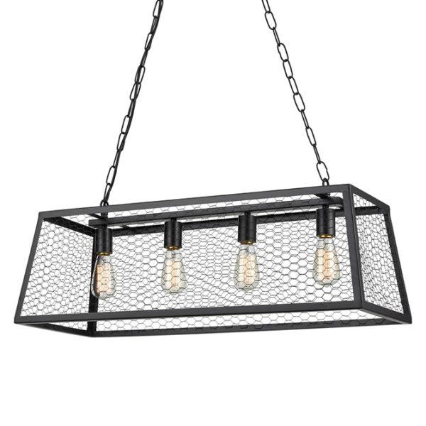 Rosa industrial & 4 lamp ceiling pendant light T01-0020 670X670 2