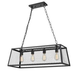 Rosa industrial style rectangular ceiling pendant light T01-0020 670X670