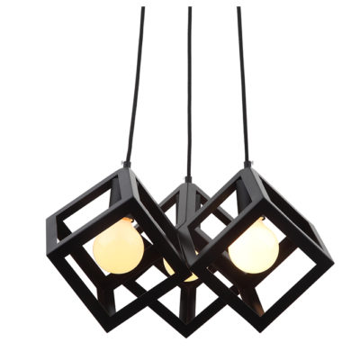 Tuscan geometric & cube shaped ceiling pendant light -T01-0024 670X670