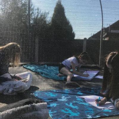 trampoline work