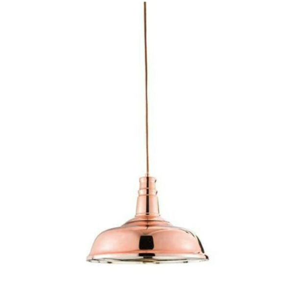 polished copper and glass ceiling pendant T54-0008