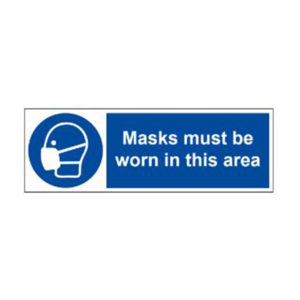 VEWhygiene Masks must be worn in this area coronavirus safety sign 2