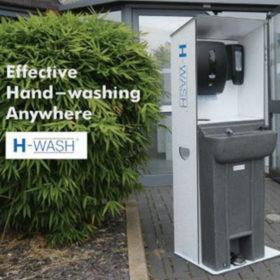 vewhygiene h-wash45 hands-free sanitising station