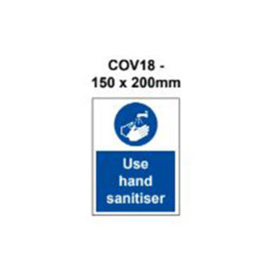 vewhygiene use hand sanitiser coronavirus safety sign