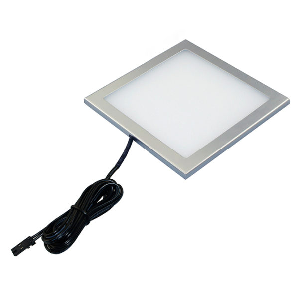 SLIM SQUARE LED SQUARE PANEL LIGHT 3W SILVER FINISH K01-0190SL 670x670