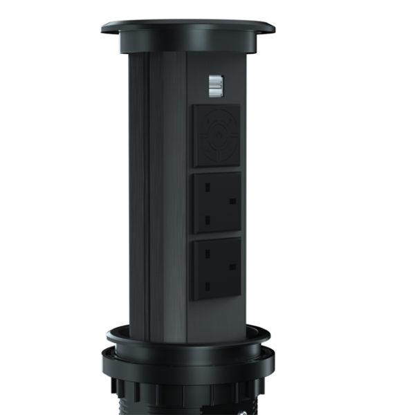 motorised pop up socket N28-0200 4