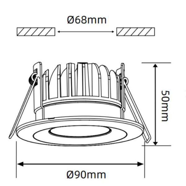 VEWsmart smart ceiling light K05-6064MWCCT-W 4