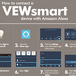 how to connect with a vewsmart device with amazon alexa
