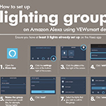 how to set up lighting groups on amazon alexa using vewsmart devices