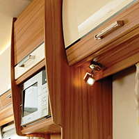 leisure spot and cabinet lights